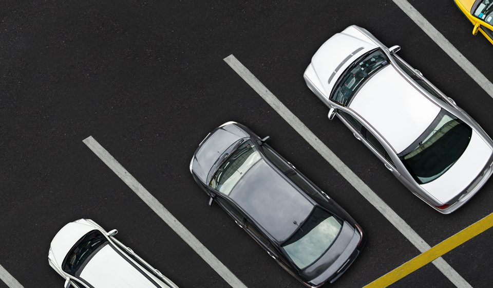 cars parked on parking lot